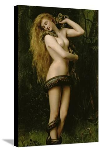 Lilith, 1887-John Collier-Stretched Canvas Print