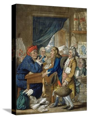 A Country Attorney and His Clients, Pub. by Bowles and Carver, 1800-Robert Dighton-Stretched Canvas Print
