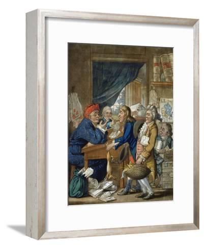 A Country Attorney and His Clients, Pub. by Bowles and Carver, 1800-Robert Dighton-Framed Art Print