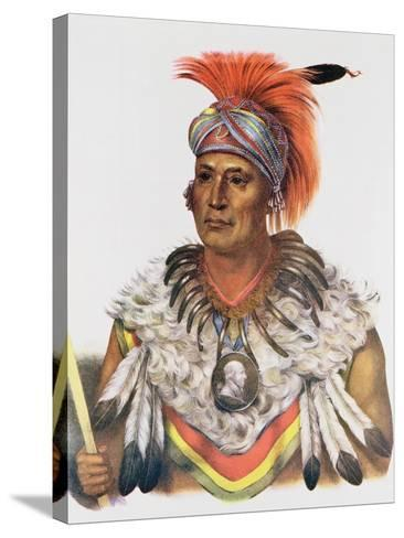 Wapella or the Prince Chief of the Foxes, 1837, Illustration from 'The Indian Tribes of North…-Charles Bird King-Stretched Canvas Print