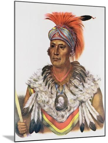 Wapella or the Prince Chief of the Foxes, 1837, Illustration from 'The Indian Tribes of North…-Charles Bird King-Mounted Giclee Print