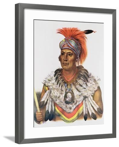 Wapella or the Prince Chief of the Foxes, 1837, Illustration from 'The Indian Tribes of North…-Charles Bird King-Framed Art Print
