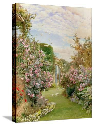 China Roses, Broadway-Alfred Parsons-Stretched Canvas Print