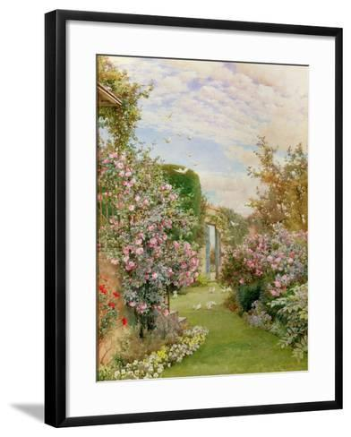 China Roses, Broadway-Alfred Parsons-Framed Art Print