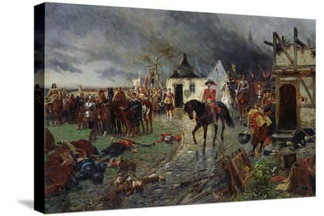 Wallenstein: a Scene of the Thirty Years War-Ernest Crofts-Stretched Canvas Print