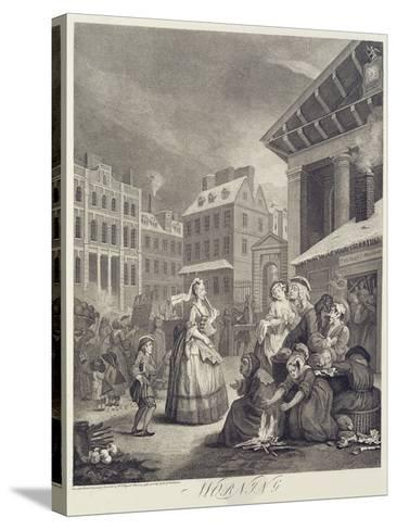 Times of the Day: Morning-William Hogarth-Stretched Canvas Print