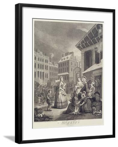 Times of the Day: Morning-William Hogarth-Framed Art Print