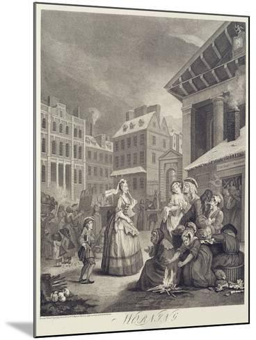 Times of the Day: Morning-William Hogarth-Mounted Giclee Print