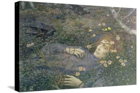 'Oh What's That in the Hollow?'-Edward Robert Hughes-Stretched Canvas Print