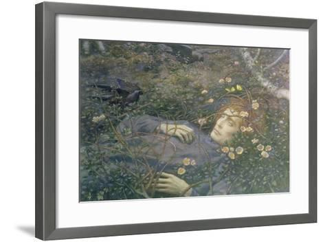 'Oh What's That in the Hollow?'-Edward Robert Hughes-Framed Art Print