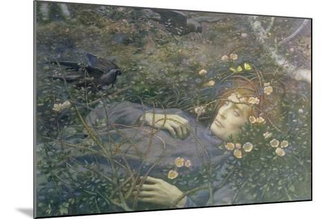 'Oh What's That in the Hollow?'-Edward Robert Hughes-Mounted Giclee Print