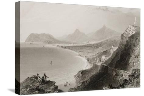 Killiney Bay, County Dublin, Ireland, from 'scenery and Antiquities of Ireland' by George Virtue,…-William Henry Bartlett-Stretched Canvas Print