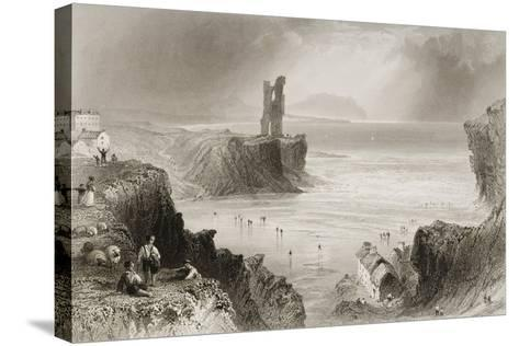 Ballybunnion, County Kerry, Ireland, from 'scenery and Antiquities of Ireland' by George Virtue,…-William Henry Bartlett-Stretched Canvas Print