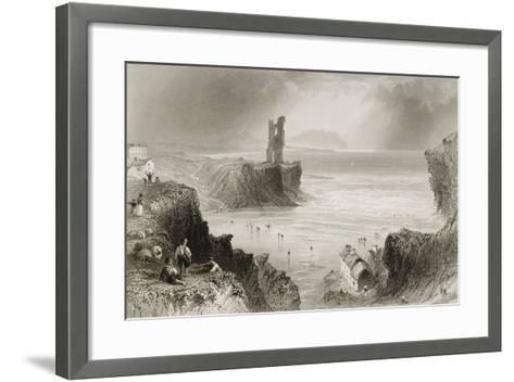 Ballybunnion, County Kerry, Ireland, from 'scenery and Antiquities of Ireland' by George Virtue,…-William Henry Bartlett-Framed Art Print