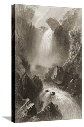 Head of the Devil's Glen, County Wicklow, Ireland, from 'scenery and Antiquities of Ireland' by?-William Henry Bartlett-Stretched Canvas Print