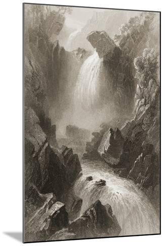 Head of the Devil's Glen, County Wicklow, Ireland, from 'scenery and Antiquities of Ireland' by?-William Henry Bartlett-Mounted Giclee Print