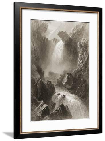 Head of the Devil's Glen, County Wicklow, Ireland, from 'scenery and Antiquities of Ireland' by?-William Henry Bartlett-Framed Art Print