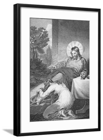 Mary Anointing the Saviour's Feet, from 'The History and Life of Our Blessed Lord and Saviour?-William Hopwood-Framed Art Print