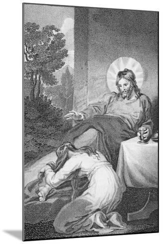 Mary Anointing the Saviour's Feet, from 'The History and Life of Our Blessed Lord and Saviour?-William Hopwood-Mounted Giclee Print