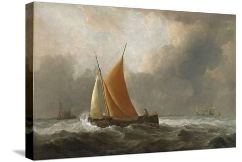 Kaag Close-Hauled in a Fresh Breeze, 1677-Willem Van De, The Younger Velde-Stretched Canvas Print