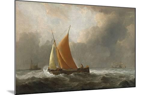 Kaag Close-Hauled in a Fresh Breeze, 1677-Willem Van De, The Younger Velde-Mounted Giclee Print