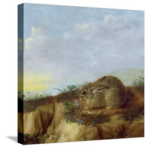 A Hare in a Landscape-Heinrich Lihl-Stretched Canvas Print