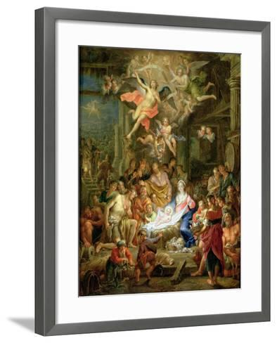 The Adoration of the Shepherds, 1741-Frans Christoph Janneck-Framed Art Print