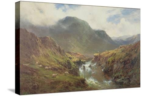 The Falls of Foyers-Alfred De Breanski-Stretched Canvas Print