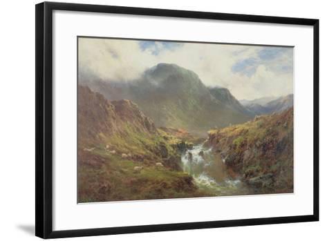 The Falls of Foyers-Alfred De Breanski-Framed Art Print