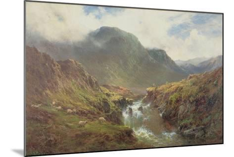 The Falls of Foyers-Alfred De Breanski-Mounted Giclee Print