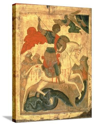 St. George and the Dragon--Stretched Canvas Print