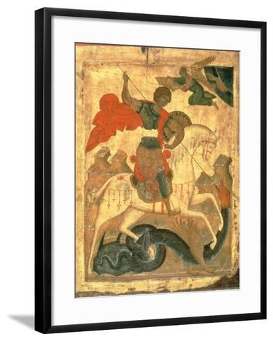 St. George and the Dragon--Framed Art Print