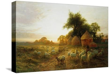Yon Yellow Sunset Dying in the West-Joseph Farquharson-Stretched Canvas Print