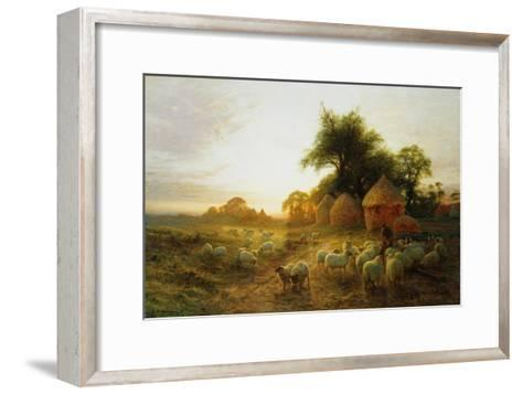 Yon Yellow Sunset Dying in the West-Joseph Farquharson-Framed Art Print