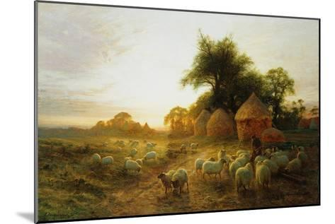 Yon Yellow Sunset Dying in the West-Joseph Farquharson-Mounted Giclee Print