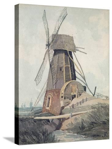 Draining Mill in Lincolnshire, 1807-08-John Sell Cotman-Stretched Canvas Print