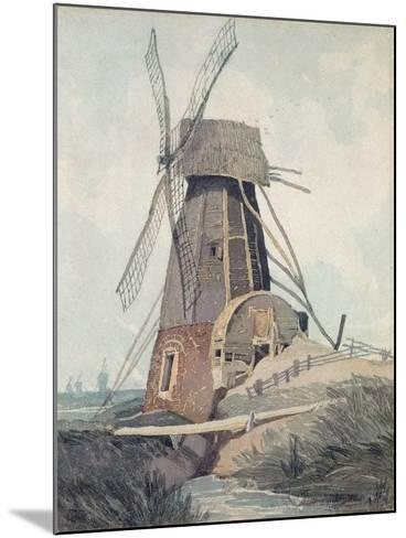 Draining Mill in Lincolnshire, 1807-08-John Sell Cotman-Mounted Giclee Print