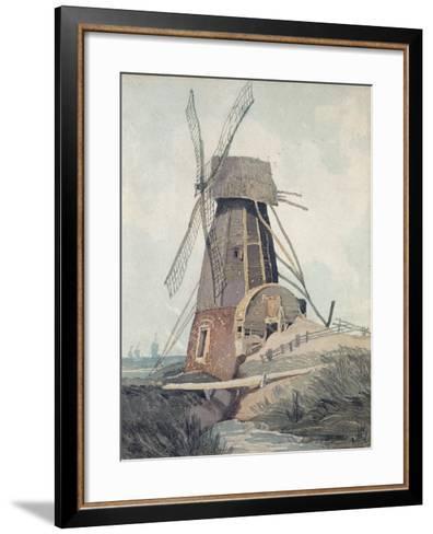 Draining Mill in Lincolnshire, 1807-08-John Sell Cotman-Framed Art Print
