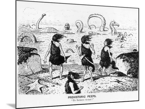 Prehistoric Peeps, 'No Bathing Today', 1884-Edward Tennyson Reed-Mounted Photographic Print