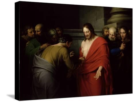 The Incredulity of St. Thomas-Benjamin West-Stretched Canvas Print