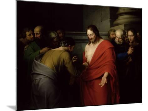 The Incredulity of St. Thomas-Benjamin West-Mounted Giclee Print