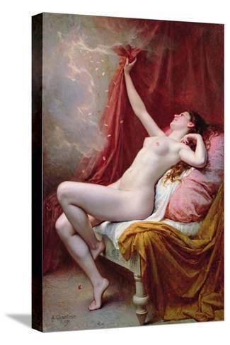 Danae, 1891-Alexandre-Jacques Chantron-Stretched Canvas Print