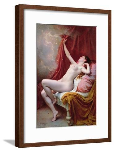 Danae, 1891-Alexandre-Jacques Chantron-Framed Art Print