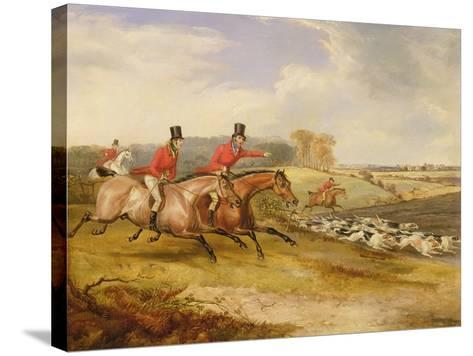 Full Cry, Bachelor's Hall, 1835-Francis Calcraft Turner-Stretched Canvas Print