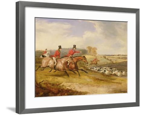 Full Cry, Bachelor's Hall, 1835-Francis Calcraft Turner-Framed Art Print