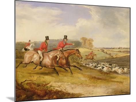 Full Cry, Bachelor's Hall, 1835-Francis Calcraft Turner-Mounted Giclee Print