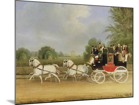 The London-Farringdon Coach Passing Buckland House, Berkshire-James Pollard-Mounted Giclee Print
