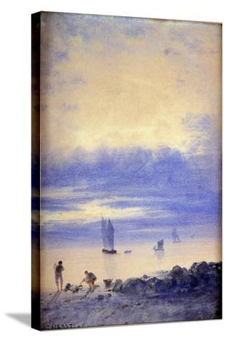 Seascape, Saint-Malo Beach-Auguste Herst-Stretched Canvas Print