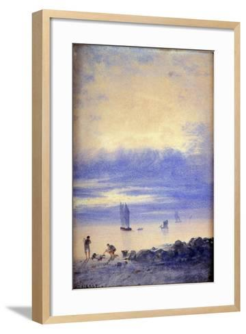 Seascape, Saint-Malo Beach-Auguste Herst-Framed Art Print