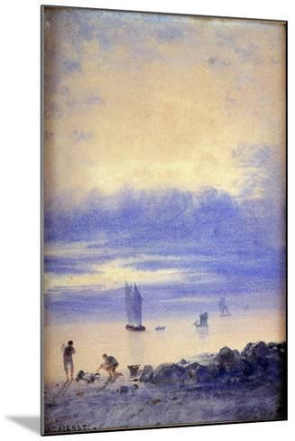 Seascape, Saint-Malo Beach-Auguste Herst-Mounted Giclee Print